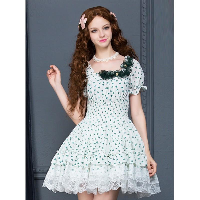 White Chiffon Green ...