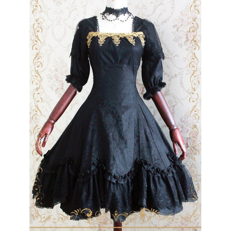 Elegant Black Jacqua...