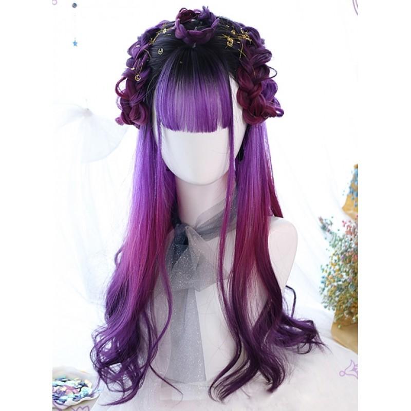 Air bangs Purple Gra...