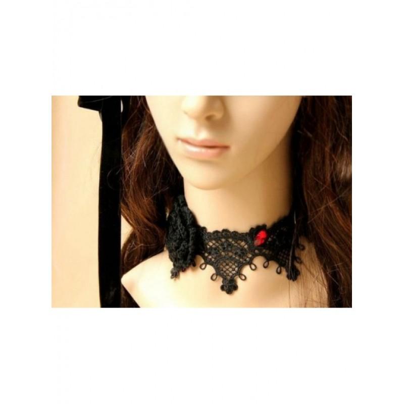 Black Lace Floral Lo...