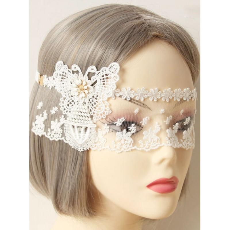 Elegant White Lace B...