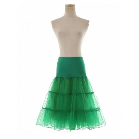 A-line Petticoat Retro Green Voile Lolita Skirt