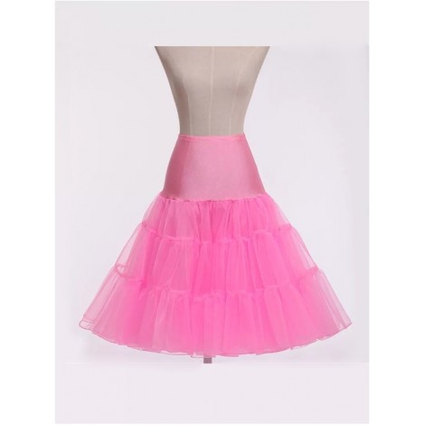 A-line Petticoat Retro Pink Voile Lolita Skirt
