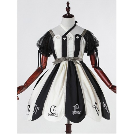 Black and white Alice 12OP classical doll classical puppets lolita