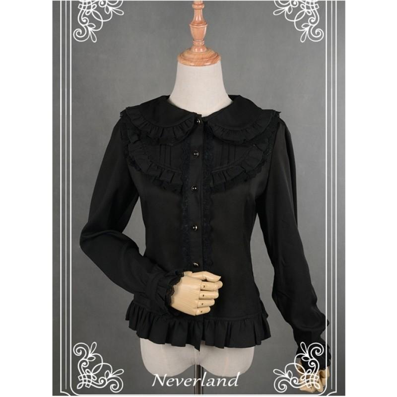 Black Lace Lapel Chi...
