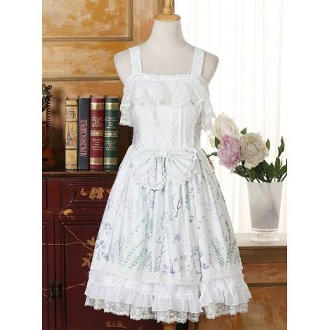 Autumn Whispers Series Bowknot Cotton Classic Lolita Dress