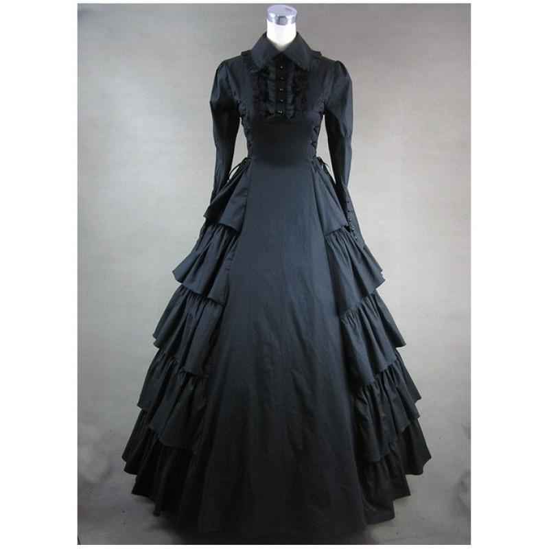 Black Long Sleeves F...
