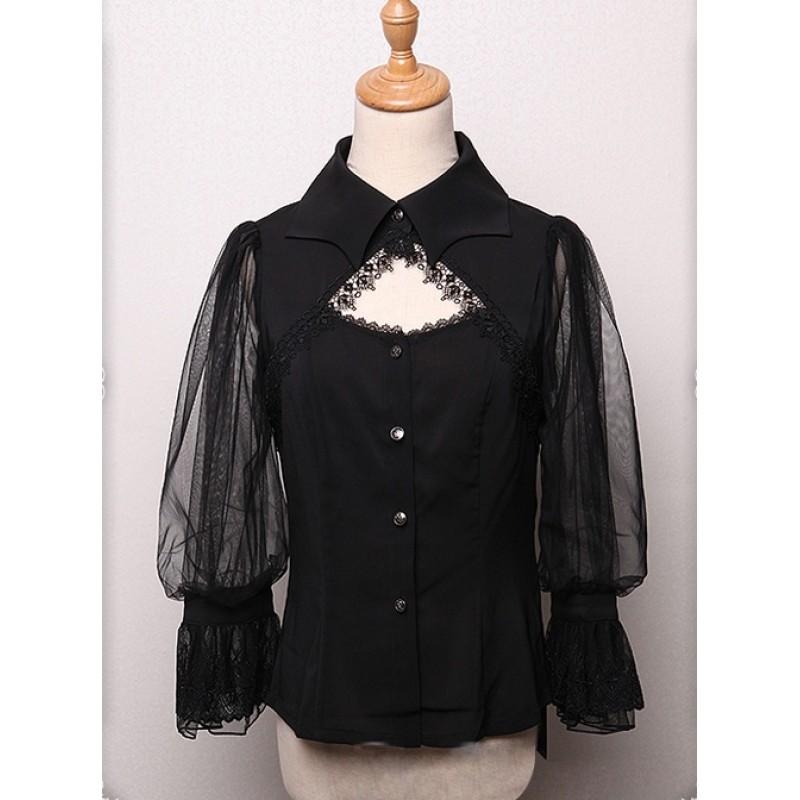 Bat Collar Black Lon...