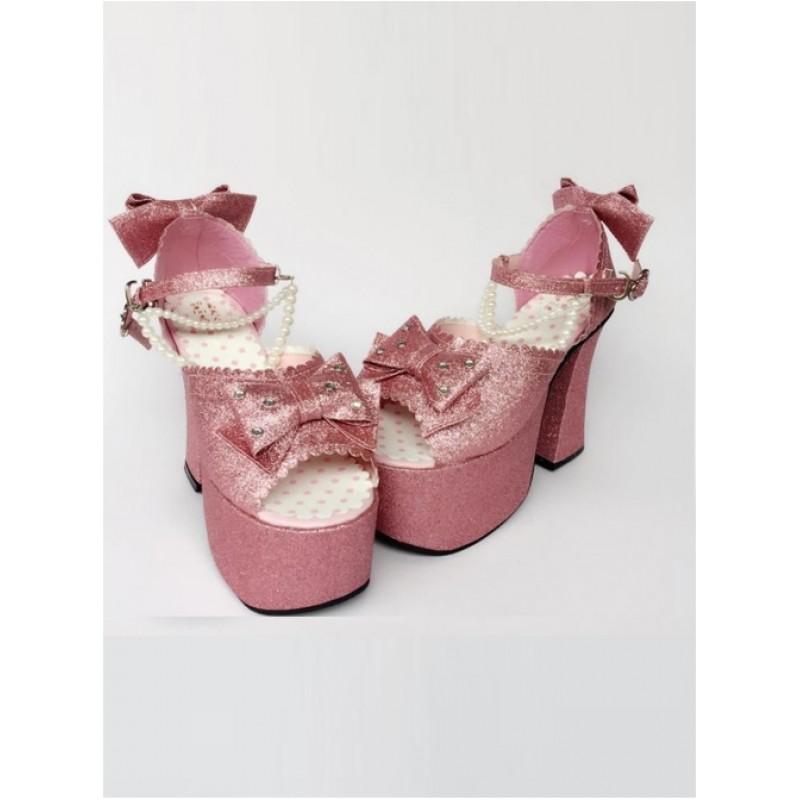 Bead Chain Pink Sequ...