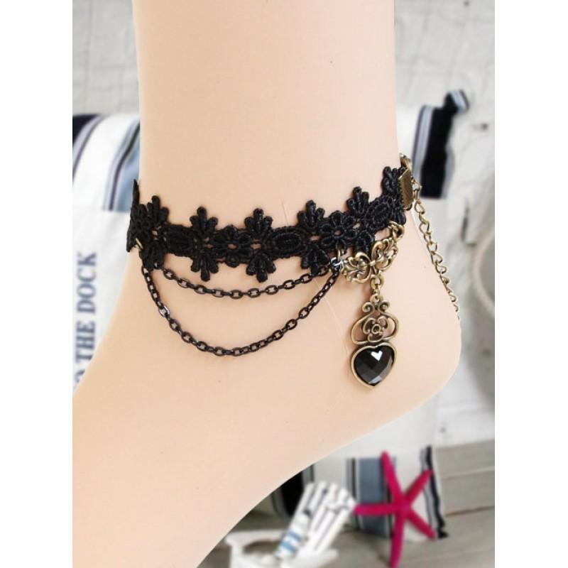 Black Lace Heart-sha...