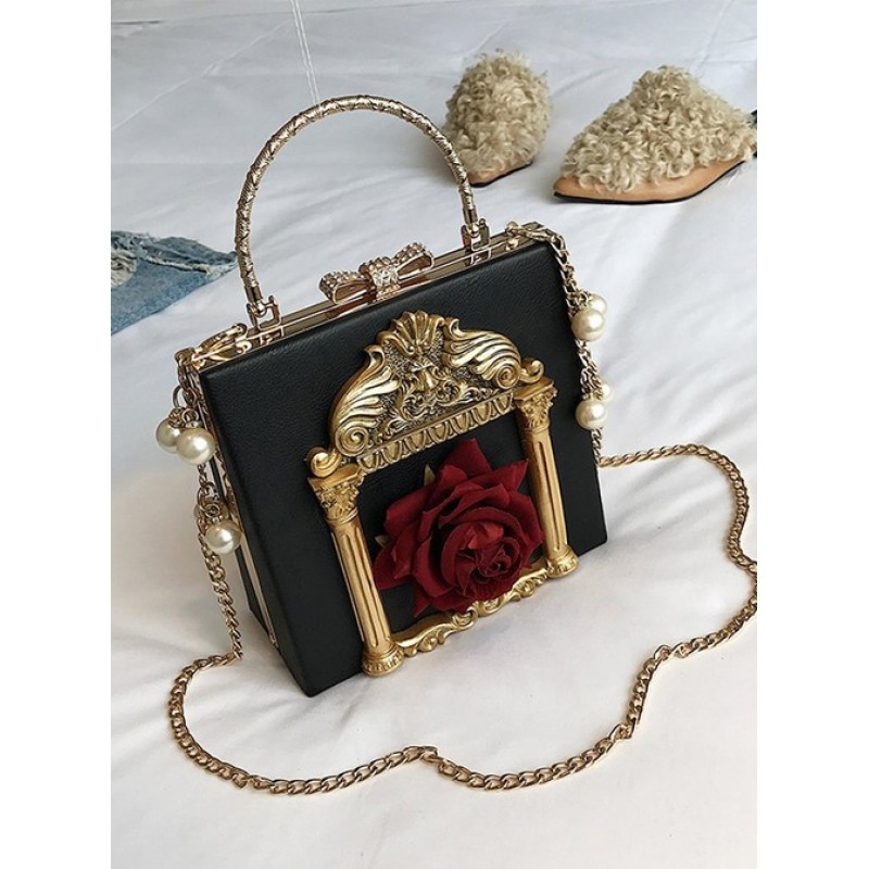 Gothic Rose Pearl Chain R...