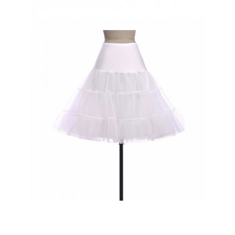 A-line Petticoat Retro White Voile Lolita Skirt