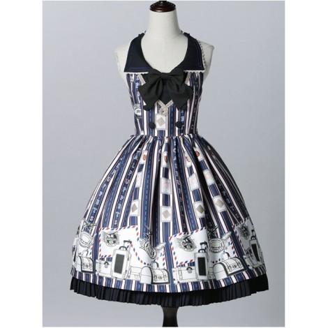 Classical doll to travel it! Blue Lolita JSK