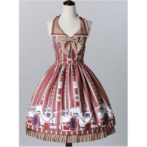 Classical doll to travel it! Wine Lolita JSK
