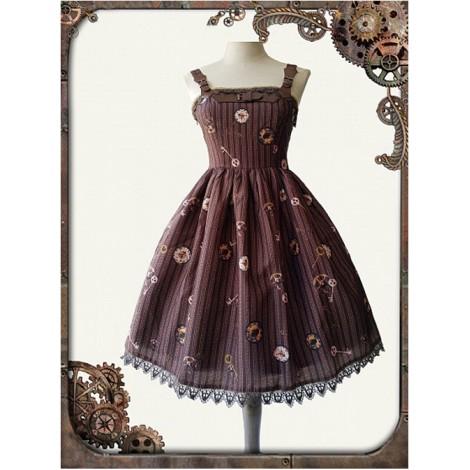 Mechanical Doll Mini Braces Skirt Coffee Color