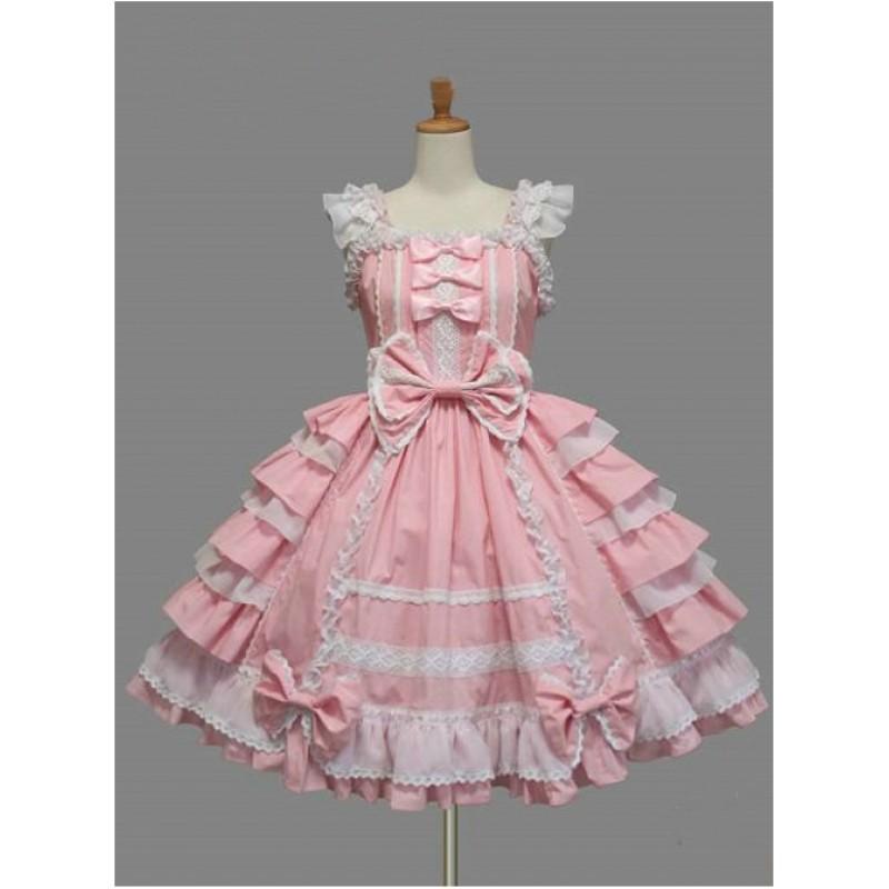 White Lace Pink Bowk...