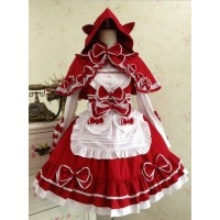 Red And White Lace Bowkno...